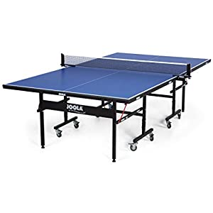 JOOLA Inside – Professional MDF Indoor Table Tennis Table with Quick Clamp Ping Pong Net and Post Set – 10 Minute Easy Assembly