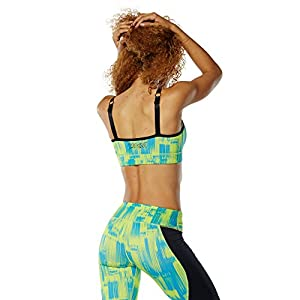 Zumba Women's Activewear Fashion Print Sports Bra with Straps