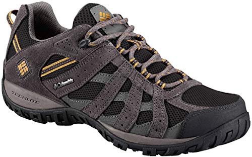 Columbia Men's Redmond Waterproof Hiking Shoe, Black, Squash, 8.5 D US