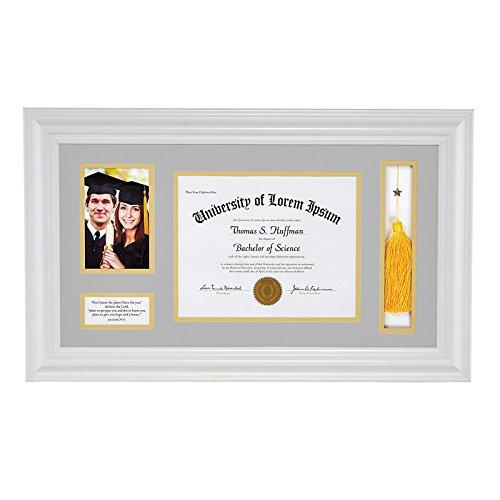 Faithworks Heartfelt Graduation Keepsake Frame, 25'' x 14.75'', Jeremiah 29:11, White