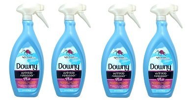Downy Wrinkle Release Spray Plus, Static Remover, Odor Eliminator, Fabric Refresher and Ironing Aid, Light Fresh Scent, 33.8 Fluid Ounce (Pack of 2) (2-(Pack of 2))