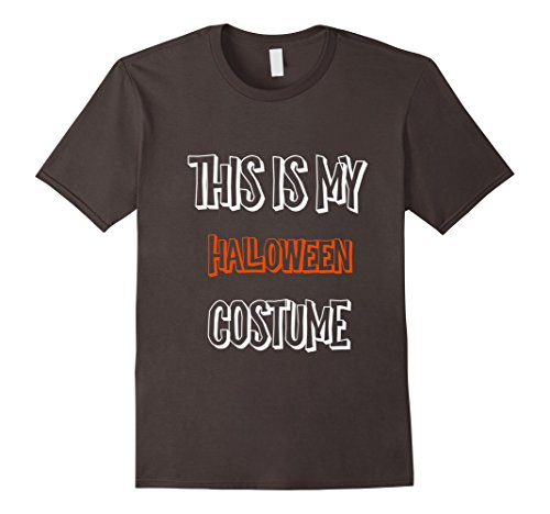 Mens This Is My Halloween Costume His And Hers Funny Shirt 2XL Asphalt