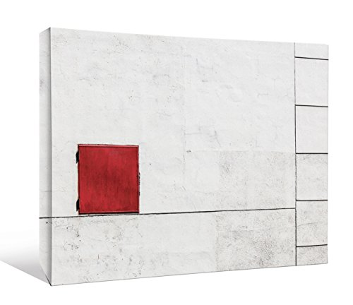 JP London DDCNV1X558970 Ready to Hang Feature Wall Art Suprematism Is All Around Simple Geo Tile Red Door 2'' Thick Heavyweight Gallery Wrap Canvas 60'' x 40'' by JP London