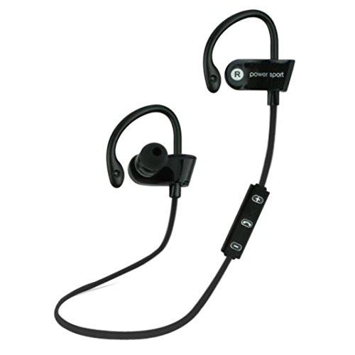 Price comparison product image Bluetooth Headphone, Mosunx(TM) Ear Hook Wireless Sports Stereo Waterproof Headset (Black)