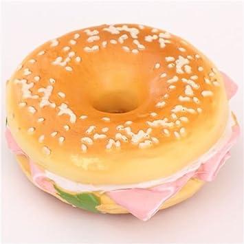 Lindo colgante Squishy para móvil sandwich bagel jamón ...