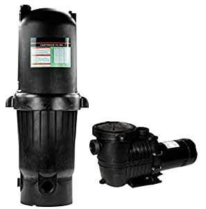 Rx Clear Radiant PRC150 Above Ground Cartridge Filter Systems with 1 HP Niagara Pump