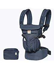 Ergobaby Carrier, Omni 360 All Carry Positions Baby Carrier with Cool Air Mesh, Midnight Blue - Au Navy Edition x Adapt Online