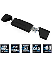 Sabrent 2-Slot Micro USB OTG and USB 3.0 Flash Memory Card Reader for Windows, Mac, Linux, and Certain Android Systems - Supports SD, SDHC, SDXC, MMC/MicroSD, T-Flash [Black] (CR-UMMB)
