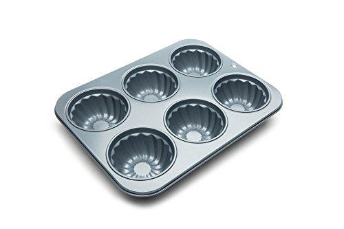 Fox Run 4461 Fluted Muffin Pan, Grey