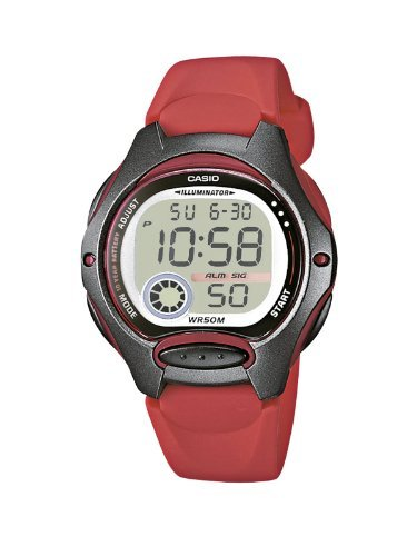 Casio Women's LW-200-4AVEF Casio Collection Digital Quartz Red Resin Watch