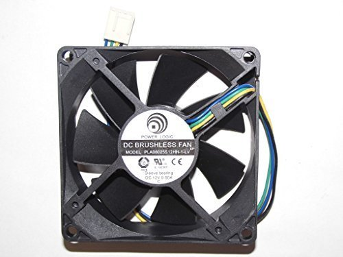 Power Logic 8025 PLA08025S12HH-1-LV 12V 0.5A 4Wire 8cm Cooling Fan by PartsCollection® (Image #2)'