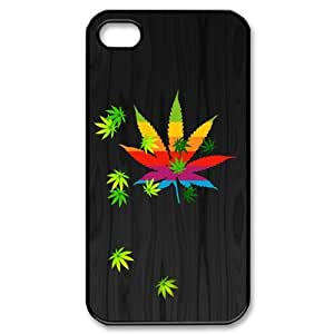 Iphone 4,4S Phone Case for Marijuana Leaf grass Classic theme pattern design GMJLGCT872504