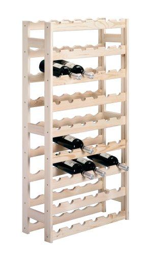 Zeller 13165 Flaschenregal für 54 Flaschen, Kiefer / 67,5 x 25 x 118