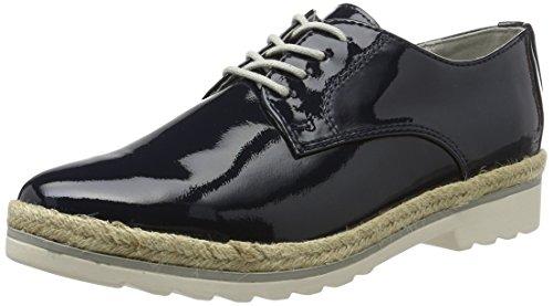 Marco Tozzi 23713, Zapatos de Cordones Oxford para Mujer Azul (Navy Patent 826)