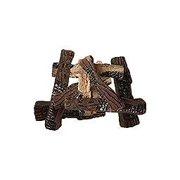 10 Piece Petite Ceramic Wood Gas Log Set