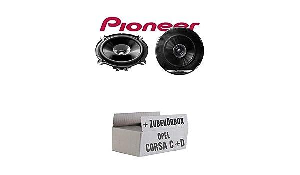 13 cm, Cono Doble, 130 mm, para Opel Corsa C y D Puerta Trasera Pioneer TS-G1310F Altavoces para Coche