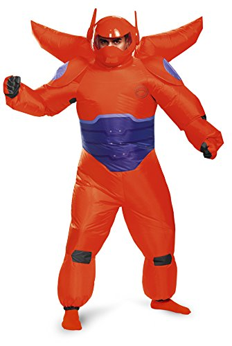 Disguise Men's Red Baymax Inflatable Adult Costume, Red, One (Baymax Halloween Costume)