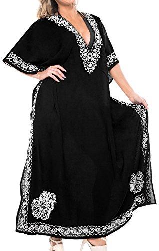 Donne Bagno Maxi Lunga Delle Nero La Coprire Spiaggia Kimono Kaftan Costumi Costume Stilista l453 Leela Del Da 4wYRqzx
