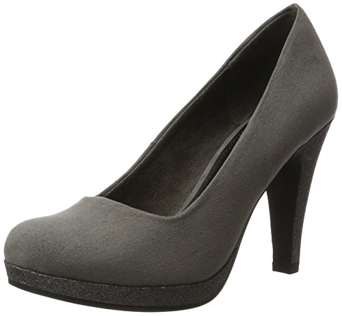 Pump Platform High Women's and Court Gray Gray Shoe Marco Dark Heel Tozzi pHq688