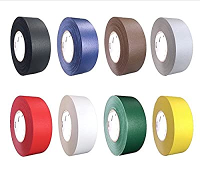 "REVO Premium Professional Gaffers Tape (2"" x 60 yds) MADE IN USA Camera Tape-Stage Tape-Book Binding Tape-Better than Duct Tape (Black, Blue, Brown, Gray, Green, Red, White, Yellow)"
