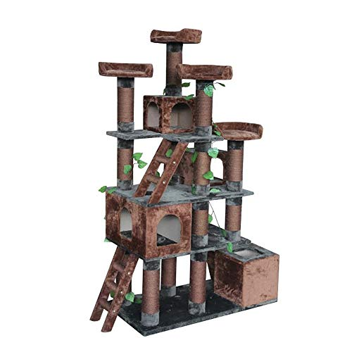 Kitty Mansions Big Horn Cat Tree, 81' H