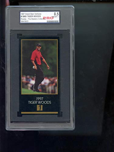 1997 GSV Grand Slam Ventures Champions Of Golf Masters Collection Gold Foil Tiger Woods ROOKIE RC PRO 8.5 Graded Golf Card