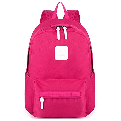Sport Lightweight Rose Hiking Nylon Travel Backpack Rucksack Running Pink Pink Cycling Unisex Bookbag UTO Back Rose School College pgwqg0