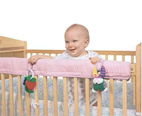 Easy Teether Crib Rail Cover Pink
