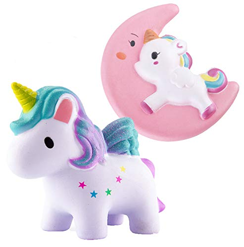 Chekue Squishies Slow Rising, Kawaii Squishies Jumbo, Soft Squeeze Toys Stress Relief Toys for Kids and Adults, 2 Pack