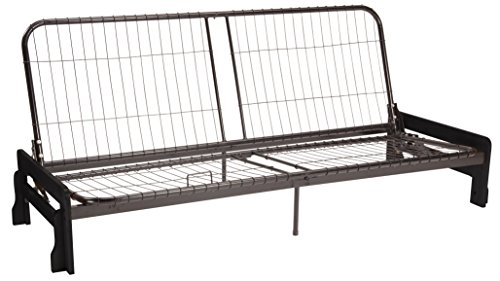 Bali Futon Sofa Sleeper Bed Frame, Queen-size, Black Arm Finish