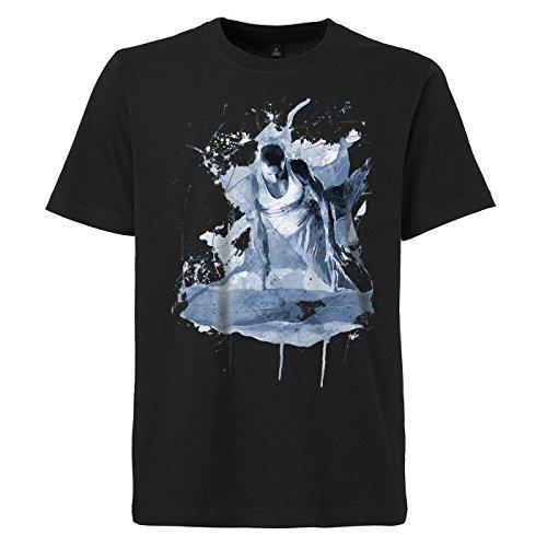 Turnen_VII schwarzes modernes Herren T-Shirt mit stylischen Aufdruck