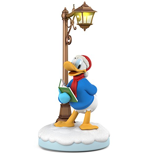 Christmas Donald Duck - Hallmark Keepsake Christmas Ornament 2018 Year Dated, Disney Christmas Carolers Jolly Donald with Music, Light and Motion