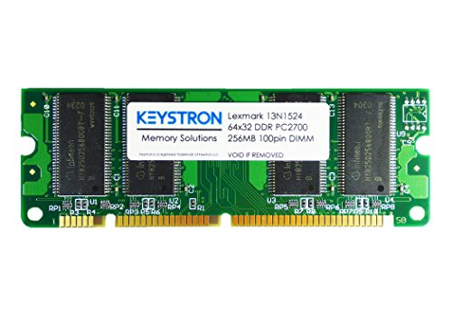 13N1524 1022299 256MB 100pin DDR1 Memory Upgrade for Lexmark Printer X850e,X850e VE3,X850e VE4,X852e,X854e,X940e,X945e (Printers Series T644 T642)