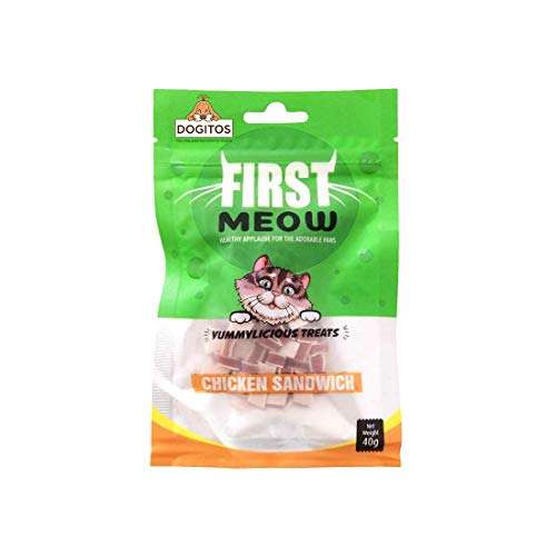 Dogitos First Meow Healthy Cat Treats 40G (Chicken Sandwich, Pack of 3)