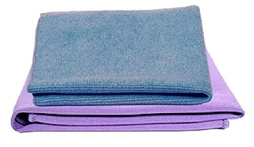 Norwex Basic Package - Microfiber Antibacterial - Glass Window Cleaning Cloth and Household Enviro Dusting Cloth (Blue envirocloth and purple window ()