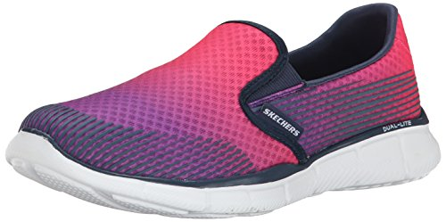 Skechers Women's Equalizer Space Out Walking Shoe,Pink/Navy,US 8
