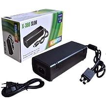 Fonte + Cabo Bivolt Vídeo Game Xbox 360 Slim 2 Pinos X Box