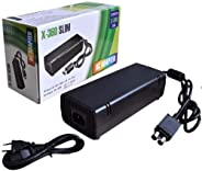 Fonte + Cabo Bivolt Vídeo Game Xbox 360 Slim 2 Pinos X Box