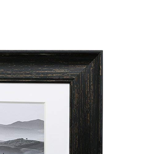EcoHome 4x6 Collage Picture Frame - 19x11 Inch, Display Three 4x6 Inch Pictures, Black Barnwood Finish, Wall Decor.