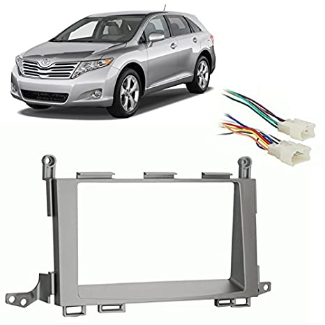 412B0GdXbjL._SX466_ amazon com fits toyota venza 2009 2012 double din stereo harness