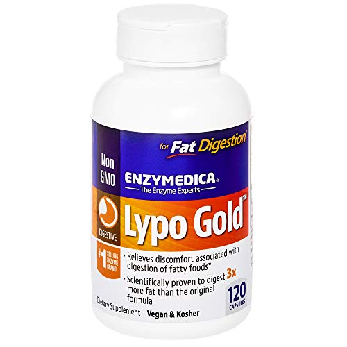 Enzymedica - Lypo Gold, Dietary Supplement to Support Fat Digestion, Vegan, Gluten Free, Non-GMO, 120 Capsules (120 Servings) (FFP)
