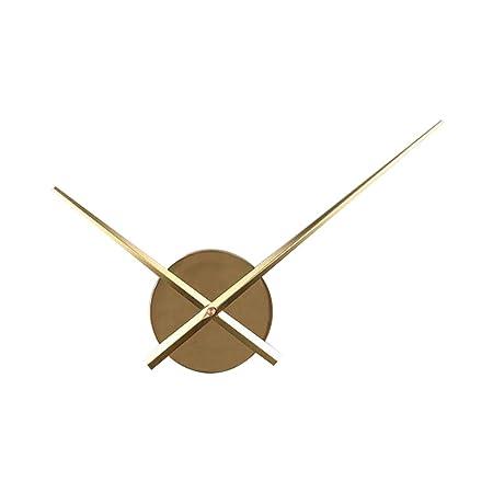 Vosarea Bricolaje Punto de Cruz Reloj Agujas Relojes de Pared 3D Home Art Decor Reloj de Cuarzo Mecanismo Accesorios (sin batería) Oro: Amazon.es: Hogar