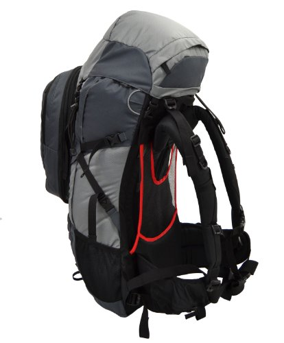 Guerrilla Packs Roundhouse Internal Frame Backpack, Middle Grey/Dark Grey by Guerrilla Packs (Image #3)