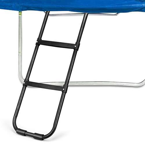 (Gardenature Trampoline Ladder-2 Steps Wide-Step Ladder-Black)
