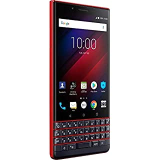 BlackBerry KEY2 LE (BBE100-4) 64GB, Dual SIM, Dual 13MP+5MP Camera, 4GB RAM, GSM Unlocked International Model, No Warranty (Red)