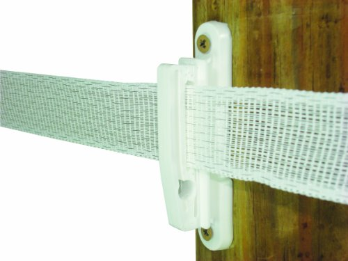 - Field Guardian Wood Post Polytape Nail-On Insulator, 2-Inch, White