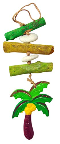 Palm Tree Driftwood Mobile Decorative Hanging Strand Tropical Home Decor 12 Inches Long
