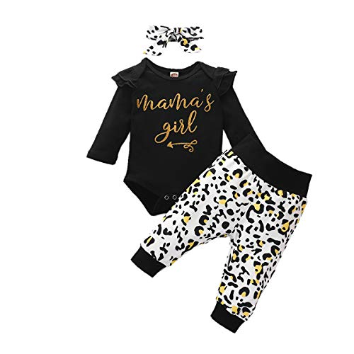Newborn Baby Girl Clothes Little Sister Outfit Long Sleeve Bodysuit Top Floral Print Pants Infant Clothing Set