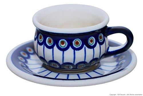 Original Bunzlauer Keramik Espressotasse mit Untertasse 0.04 Liter im Dekor 8