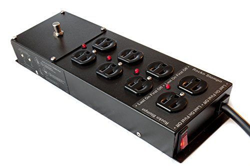 RS-4 Guitar Amp Surge Protector,Power Conditioner, Power Sequencer, Power Strip from Rockn Stompn